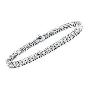 Princess cut 4.80 carats sparkling diamonds tennis